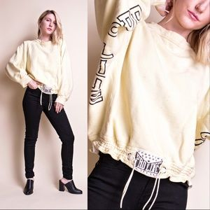 Vintage 80s proline distressed drawstring crewneck
